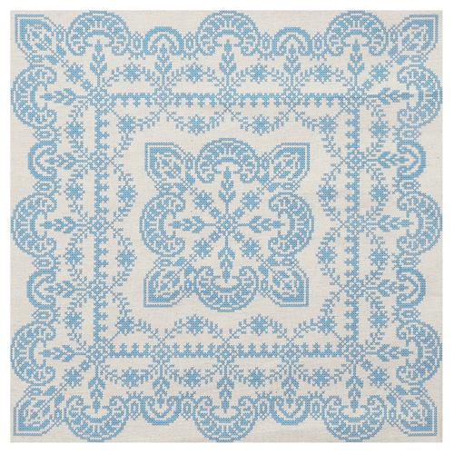ККПН 02(лен) Набор наволочка на подушку для вышивки крестом « Зимняя сказка» 45*45см