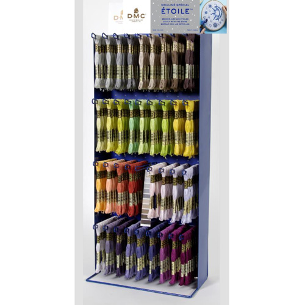 DMC Etoile Комплект ниток для вышивания (мулине с люрексом 617), 35 цветов + дисплей.