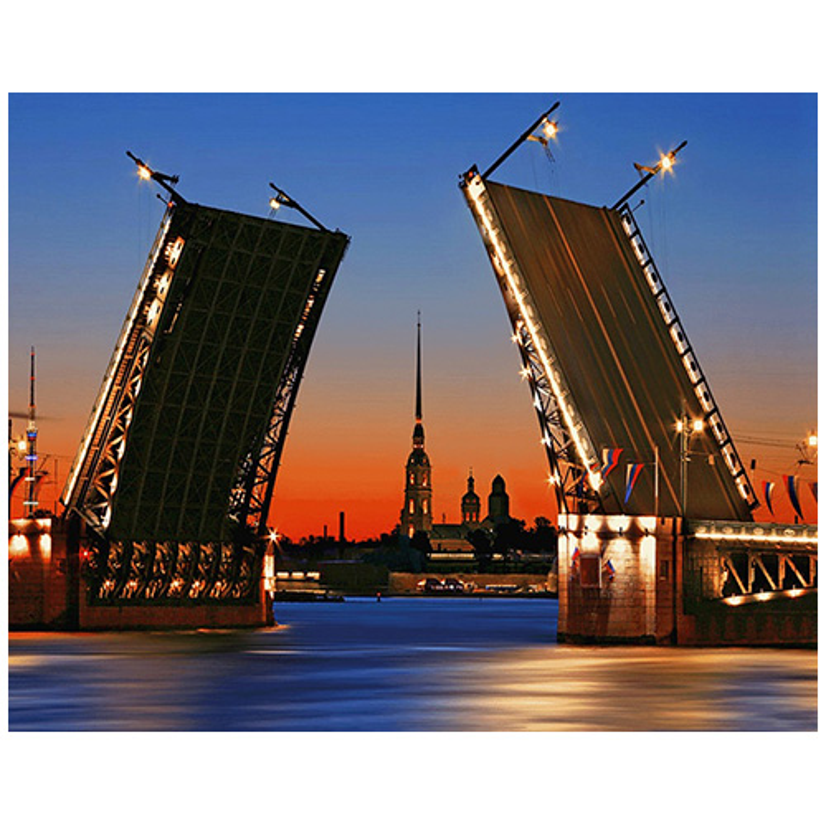 Ag 504 Набор д/изготовления картин со стразами 'Дворцовый мост' 48*38см Гранни