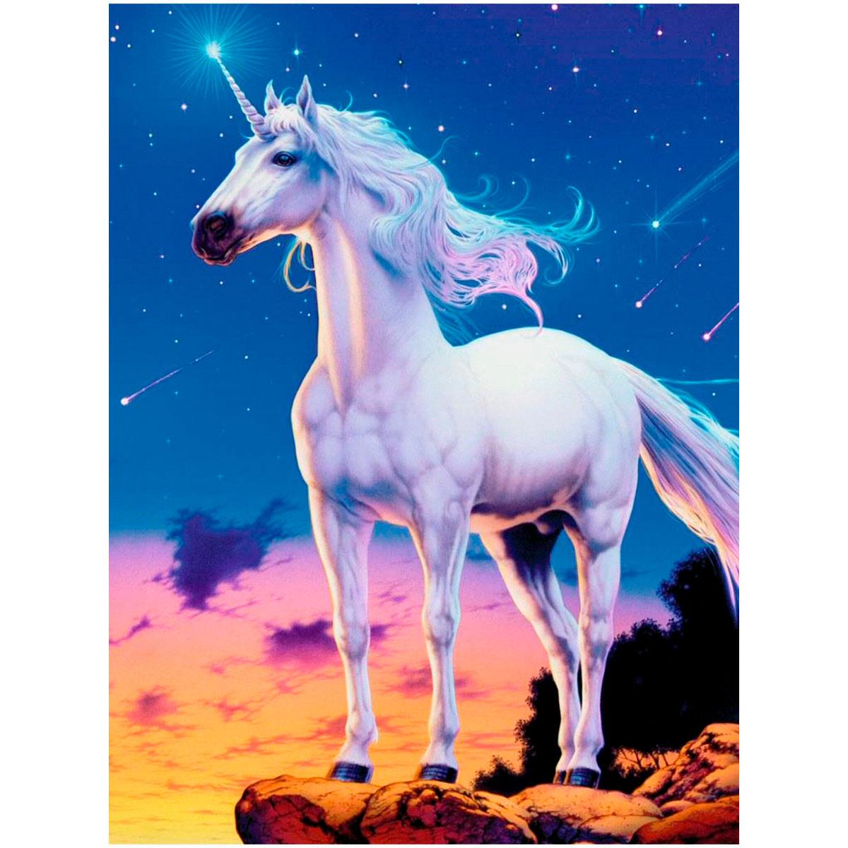 Ag 129 Набор д/изготовления картин со стразами 'Звездный единорог' 38*48см Гранни