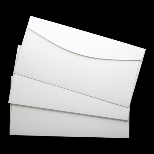 ОКО1201 Конверт для открытки 11х22 см КОМПЛ. 3шт Цвет:белый Фактура 'Скорлупа'