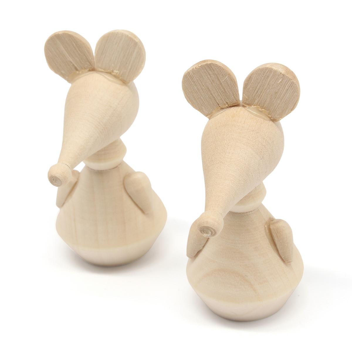 Деревянная заготовка Фигурка животных Мышь