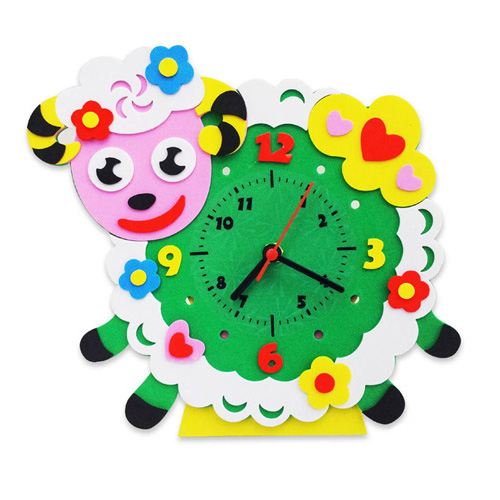 CL009 Овечка часы - набор для творчества из фоамирана Колор Кит 24*24см
