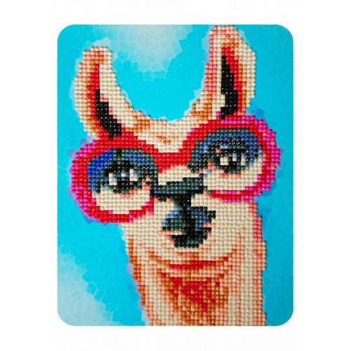 M003 Алмазная картина Колор Кит 'Лама в розовых очках '17*21см