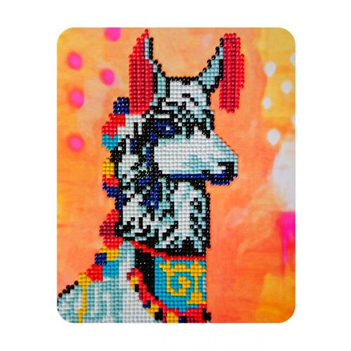 M011 Алмазная картина Колор Кит 'Нарядная лама'17*21см