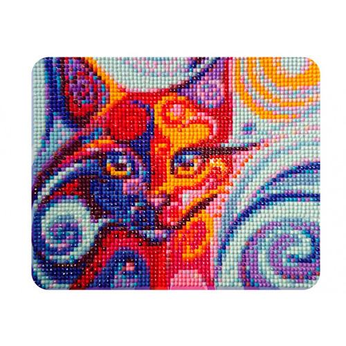 MP002 Алмазная картина Колор Кит 'Сказочная кошка'17*21см