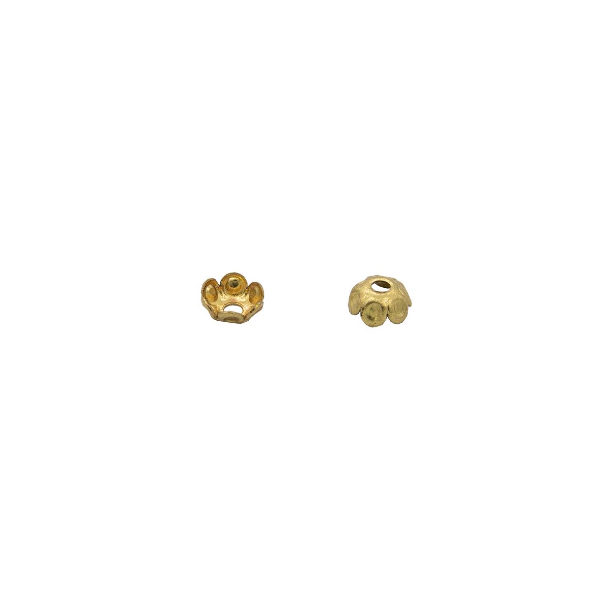 17-0003 Окончания (шапочки для бусин) золото 5*2мм