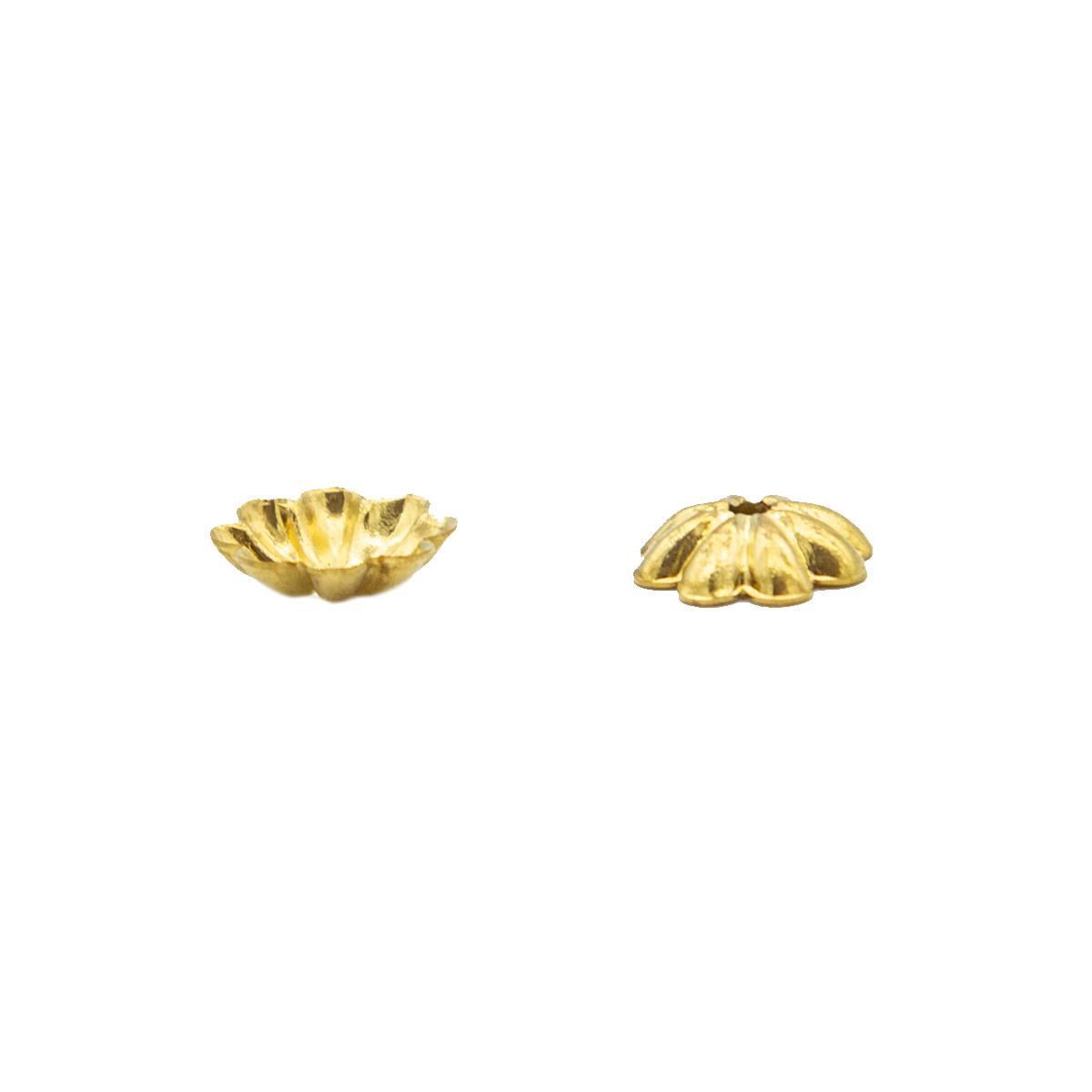 17-0008 Окончания (шапочки для бусин) золото 7*2мм