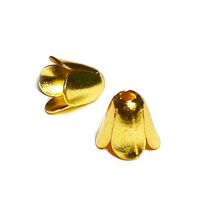 17-0031 Окончания (шапочки для бусин) золото 6*5мм