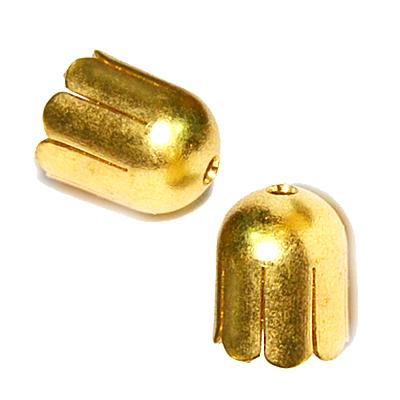 17-0039 Окончания (шапочки для бусин) золото 9*8мм