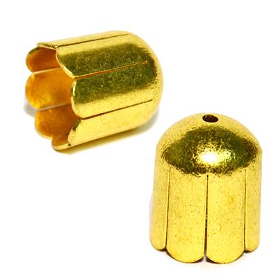 17-0041 Окончания (шапочки для бусин) золото 14*12мм