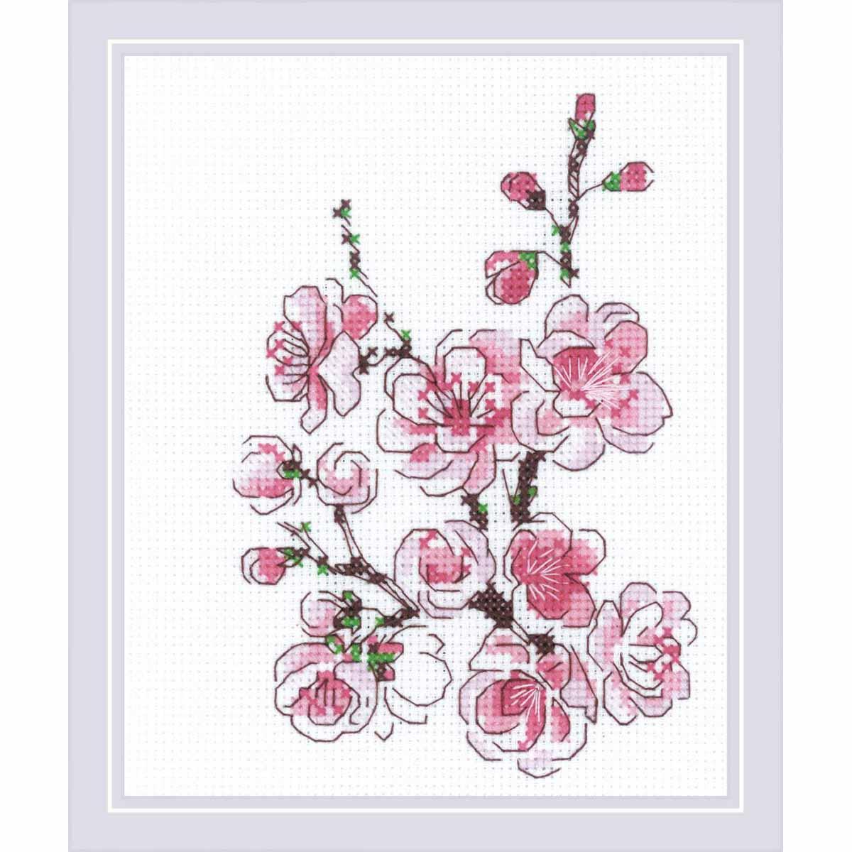 1818 Набор для вышивания Риолис 'Веточка сакуры' 13*16см