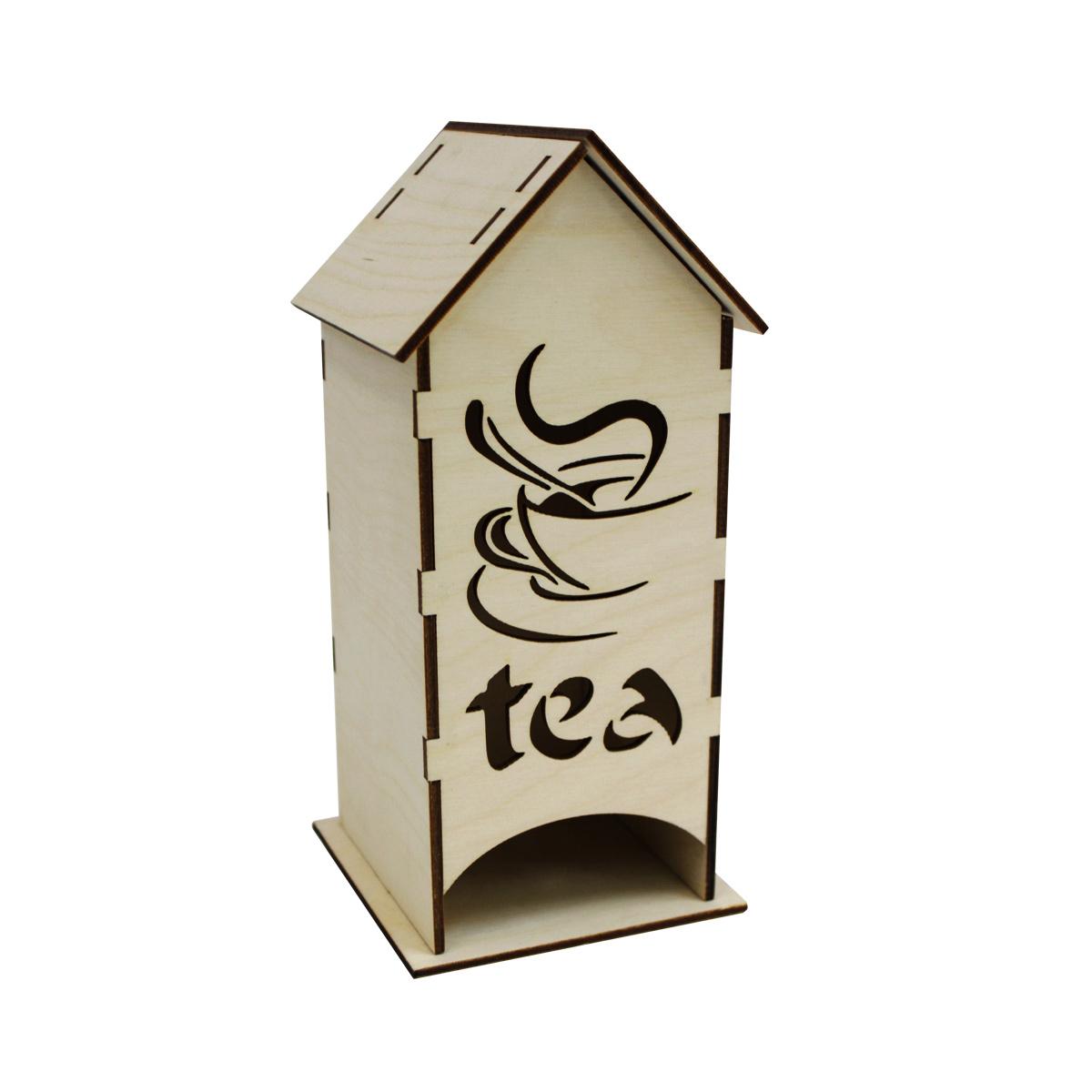 L-442 Деревянная заготовка чайный домик 'Чай', 19,5*8*8 см, 'Астра'