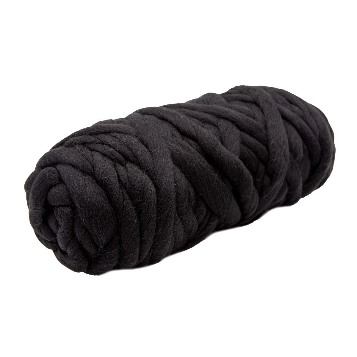 Пряжа Камтекс 'Супер толстая' 500гр. 40м.(шерсть п/т 100%) (003 черный) фото