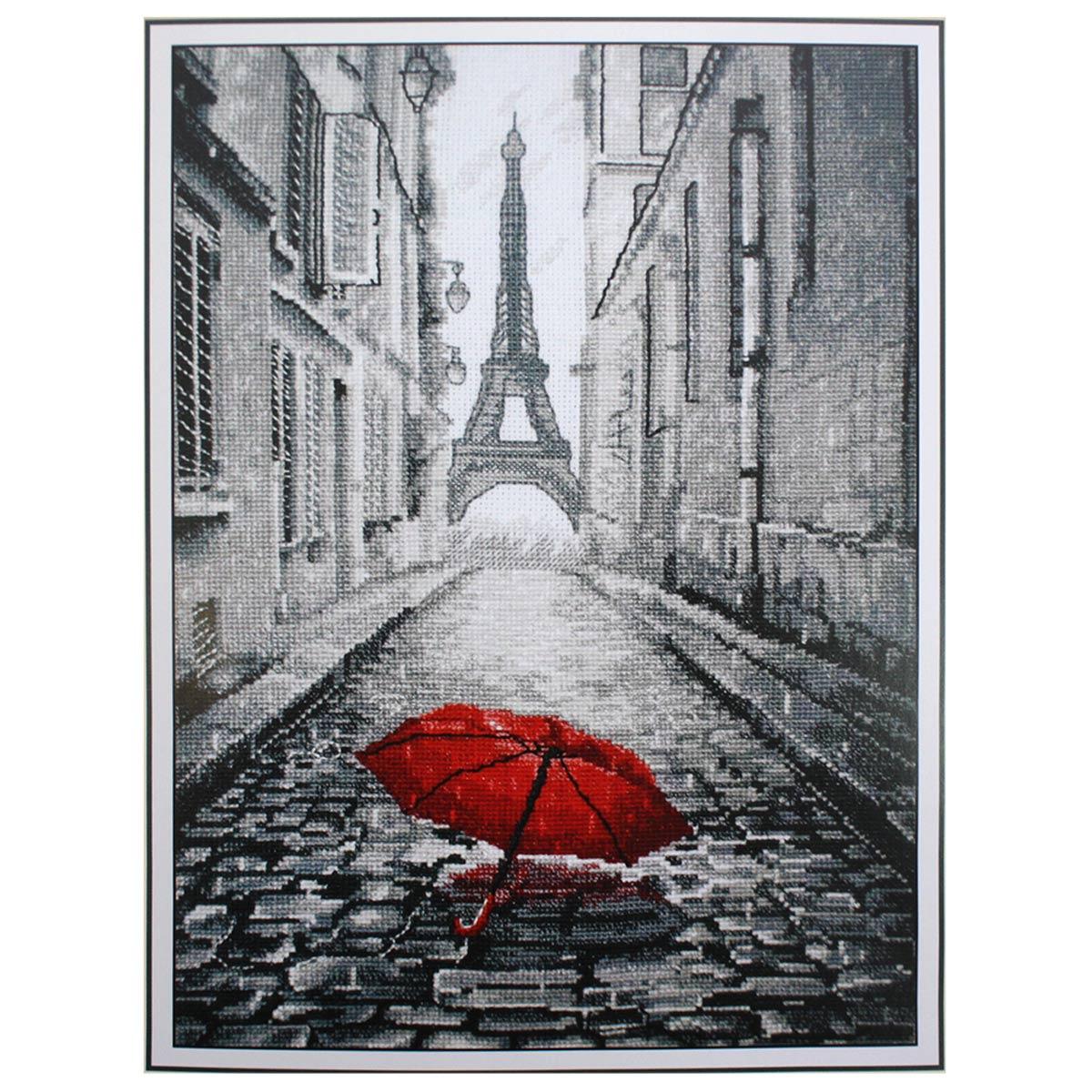 868 Набор для вышивания 'Овен' 'В Париже дождь', 20*29 см