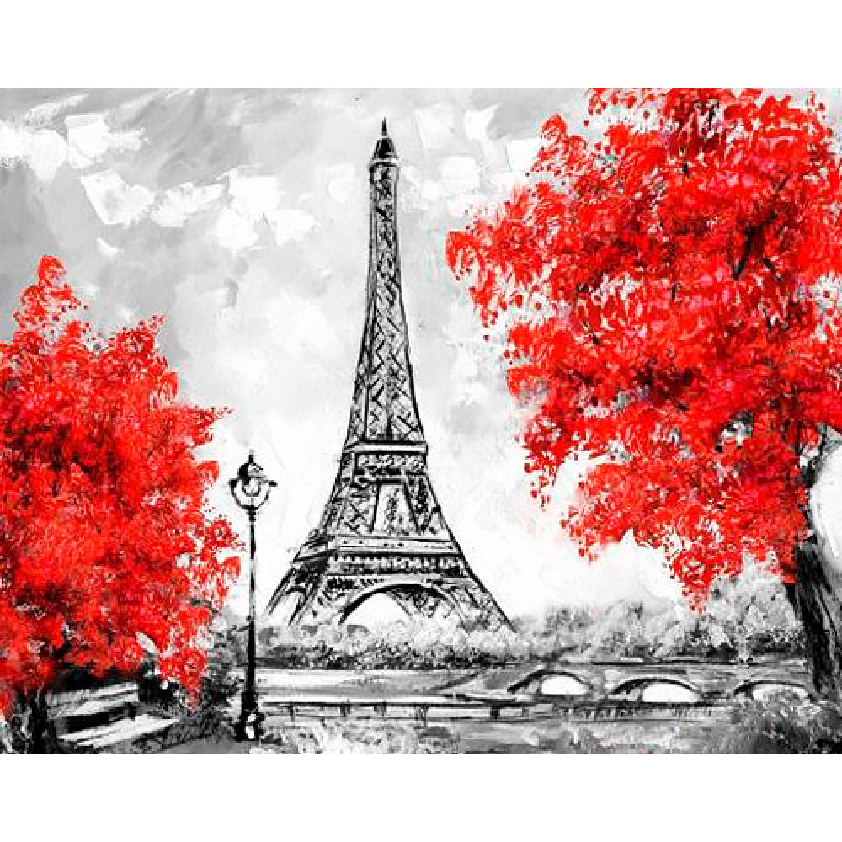 Ag 2314 Набор д/изготовления картин со стразами 'Парижские виды' 48*38см Гранни