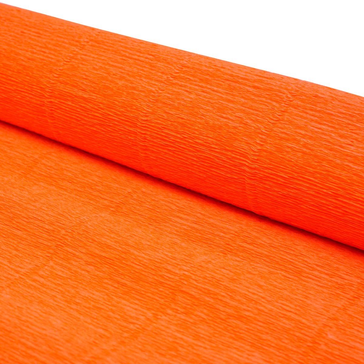 87500357 Бумага гофрированная простая, 180гр 581 оранжевая