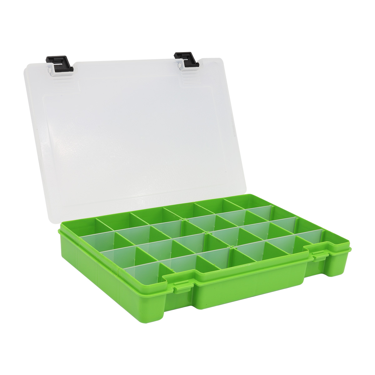 ТИП-7 Коробка, 6 съёмных перегородок, 24 ячейки, 274*188*45 мм (салатовый) TRIVOL