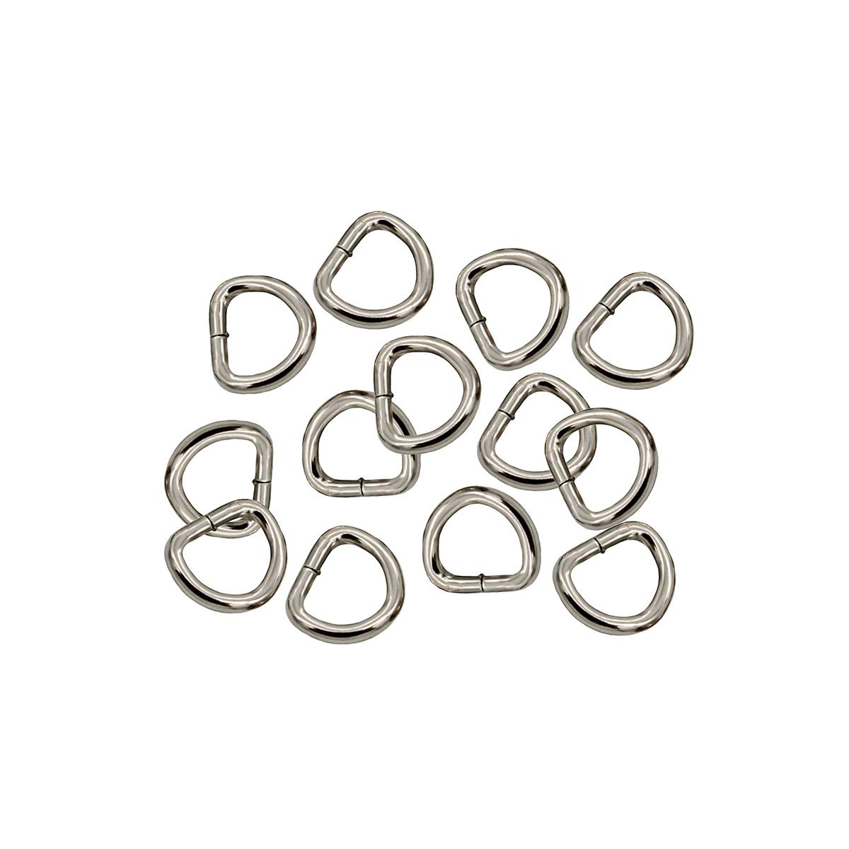 27285 Полукольцо мини 9*8мм уп. 20 шт, цв.серебро