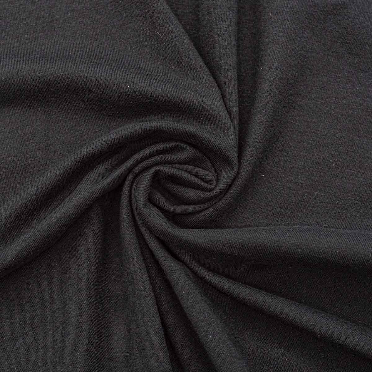 27468 Ткань ' Кулирная гладь' пл. 190-210г/м2 50см*45см 46*50см + - 1см , цв. чёрный