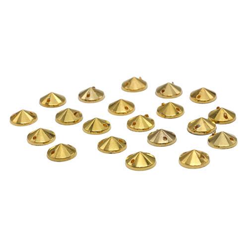 GACR-Q053-G Стразы акриловые,круглые золото 8*2мм, 20шт/упак