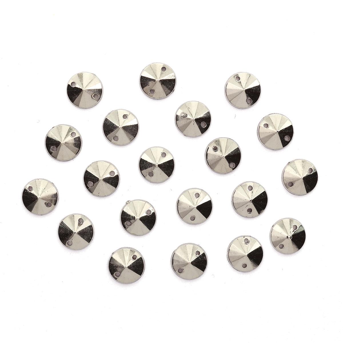 GACR-Q053-P Стразы акриловые,круглые платина 8*2мм, 20шт/упак