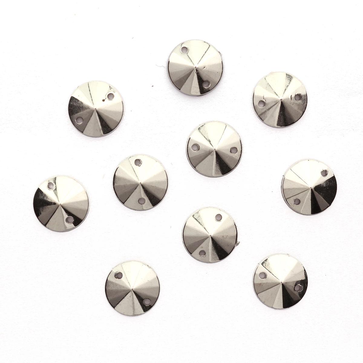 GACR-Q053-P Стразы акриловые,круглые платина 10*4мм, 20шт/упак