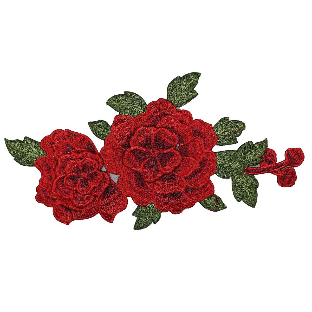 ГФ716 Аппликация Цветы 312*156мм фото