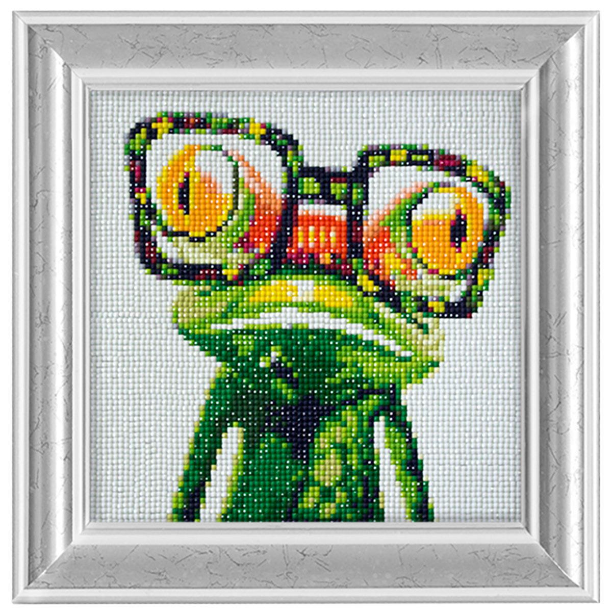 Ag 2347 Набор д/изготовления картин со стразами 'Яркий лягушонок' 20*20см Гранни