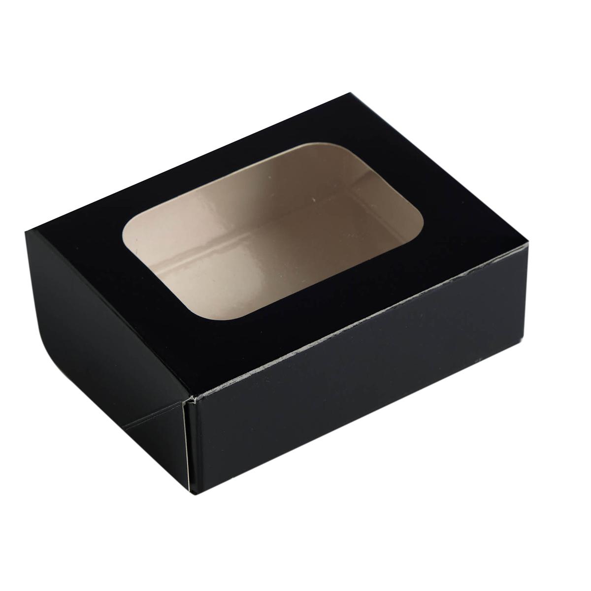 4439915 Контейнер картон, чёрный, 10*8*3,5 см