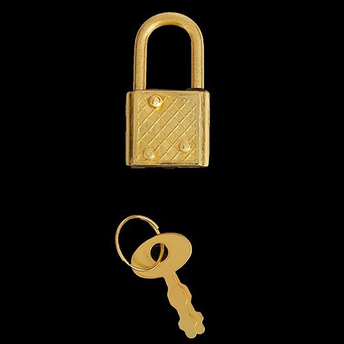 3531294 Замочек с ключиком С286 золото 3,1*1,7 см упак/5 шт