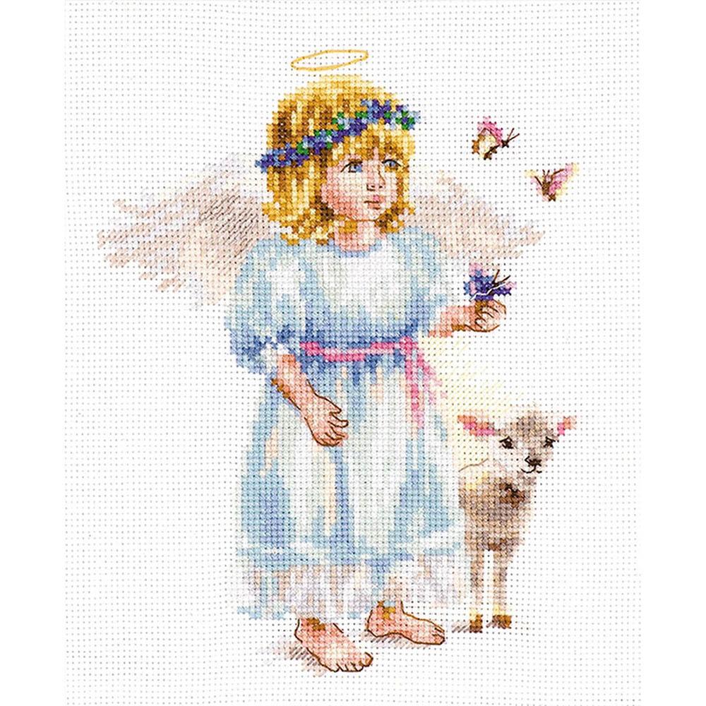 0-202 Набор для вышивания АЛИСА 'Светлый ангел' 13*16 см
