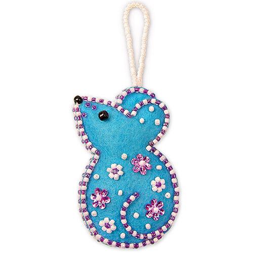 АФ 10-100 Набор для игрушки-патча 'Милая мышка' 7*4,4см Клевер