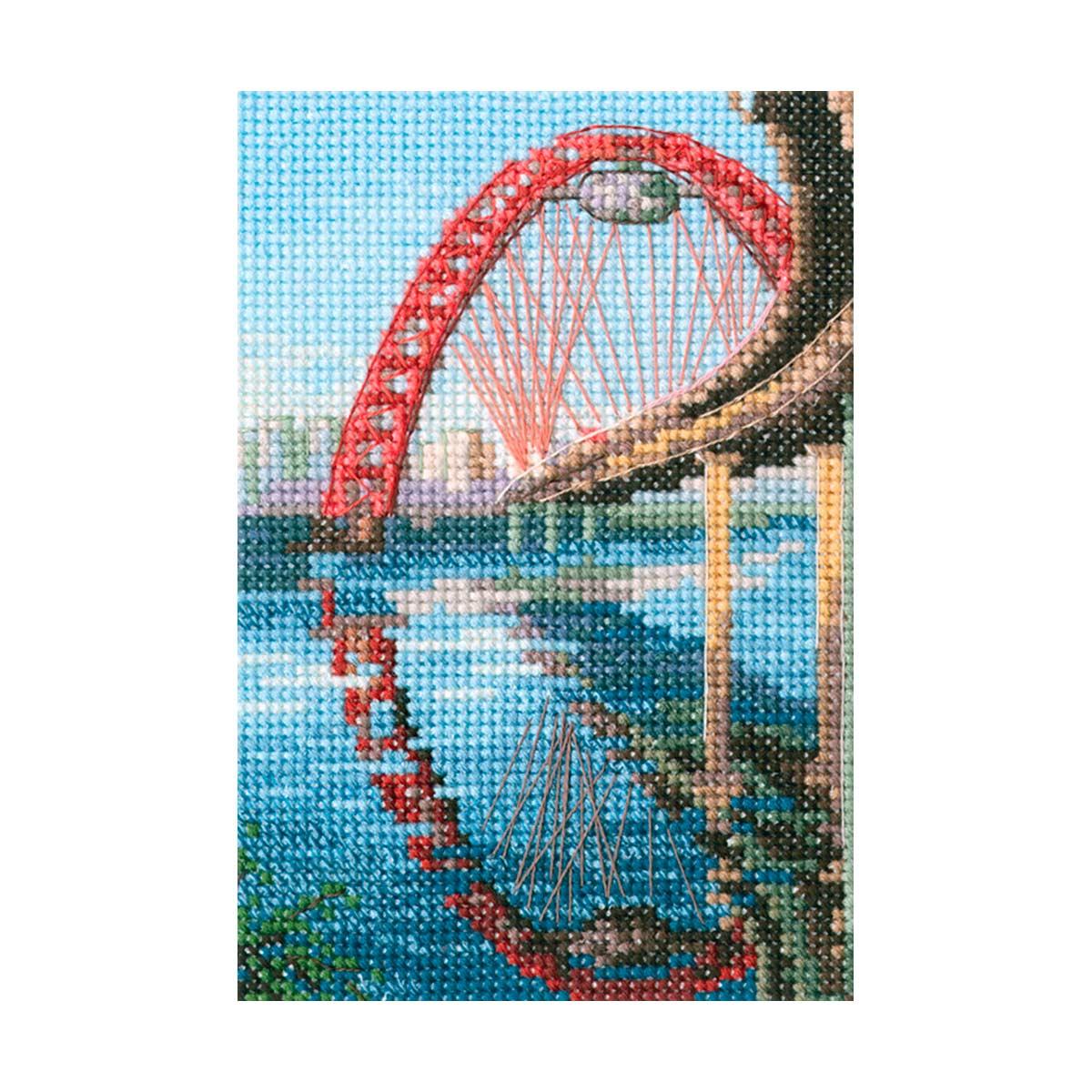 С310 Набор для вышивания РТО 'Живописный мост'9x13,5см
