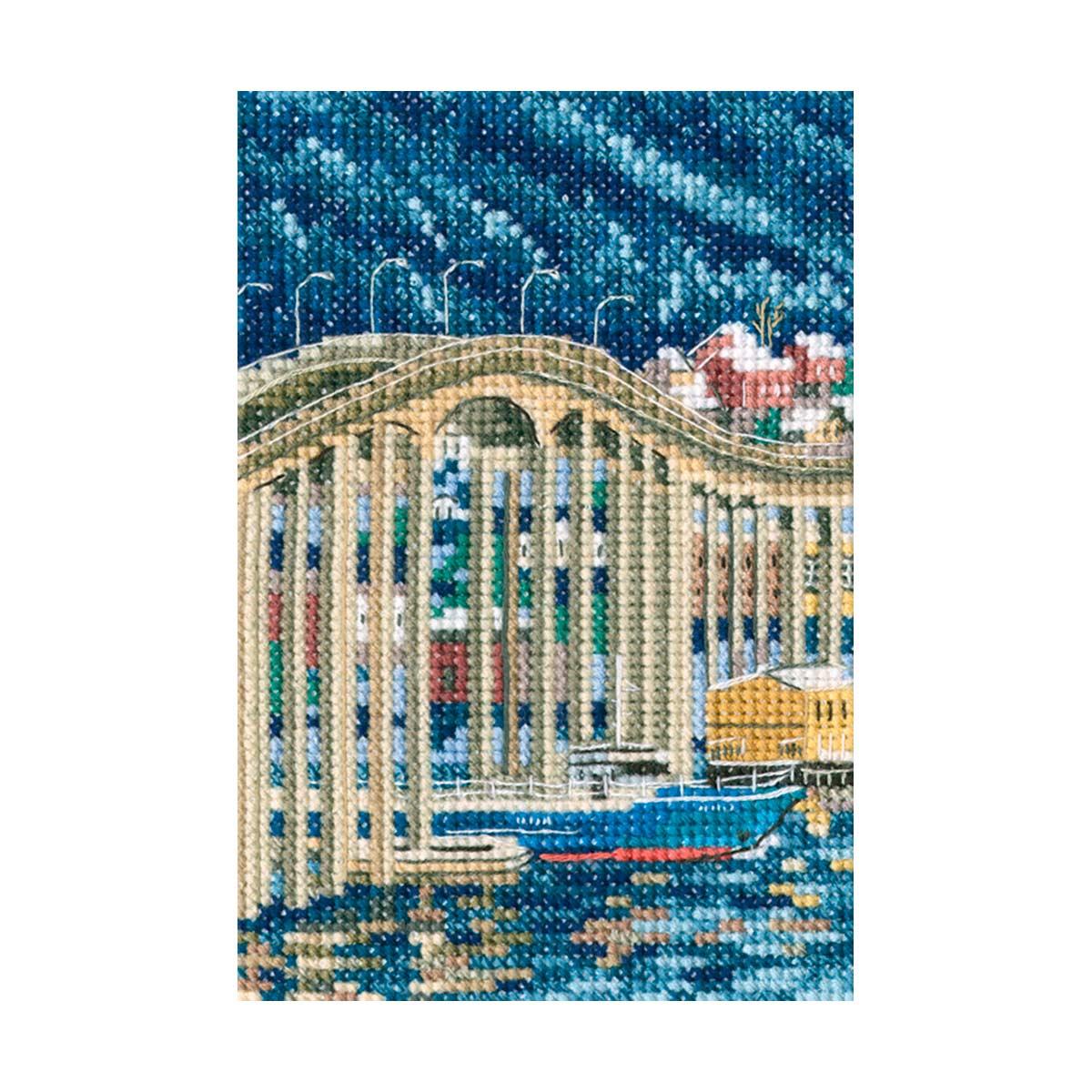 С308 Набор для вышивания РТО 'Тасманский мост'9x13,5см