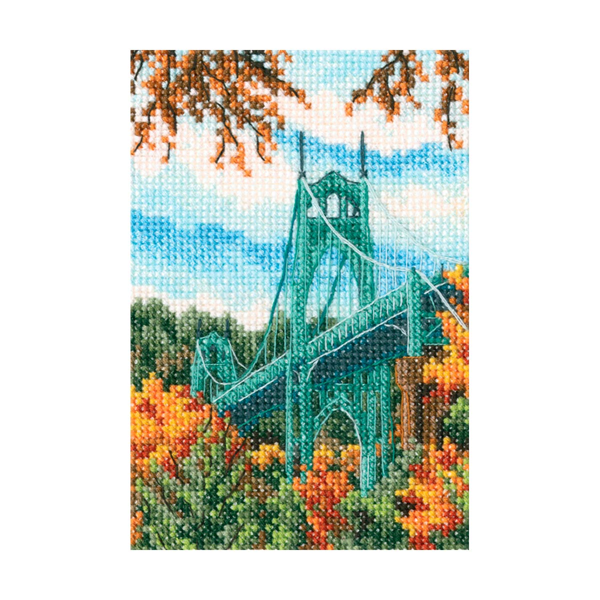 С305 Набор для вышивания РТО 'Мост Сент-Джонс'9x13,5см