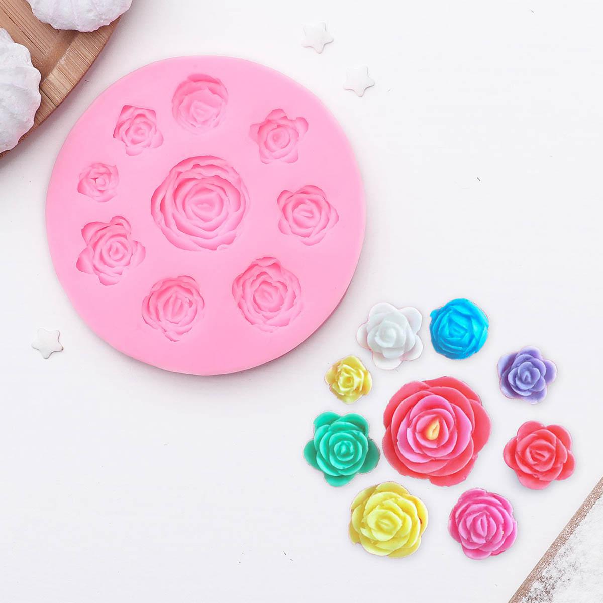 1057228 Молд 9,5 см 'Круговорот роз'