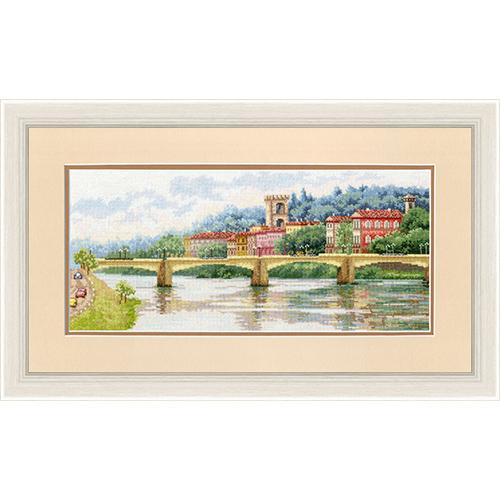 ДЛ-037 Набор для вышивания Золотое руно 'Мост Понте-алле-Грацие, Флоренция'18,7?42см
