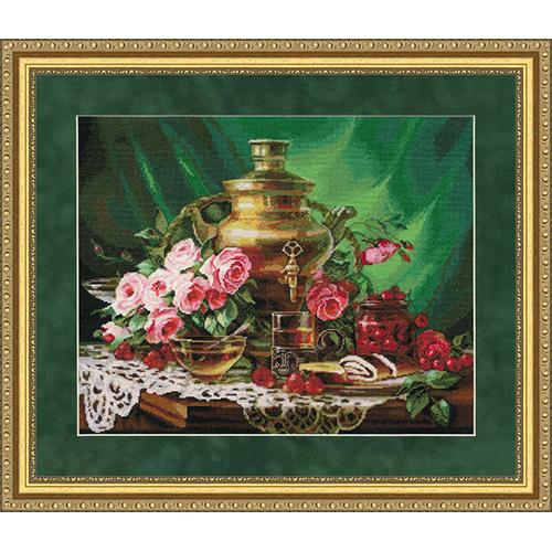 СЖ-046 Набор для вышивания Золотое руно 'Чай с мёдом'35,5× 44,5см