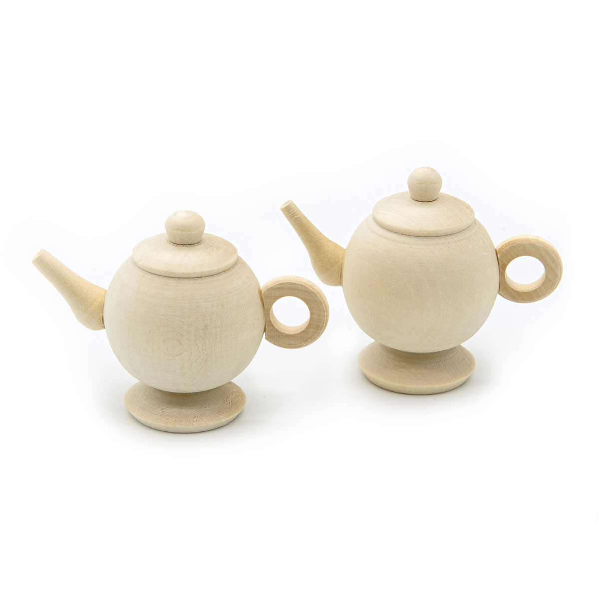Деревянная заготовка Чайник круглый цельный