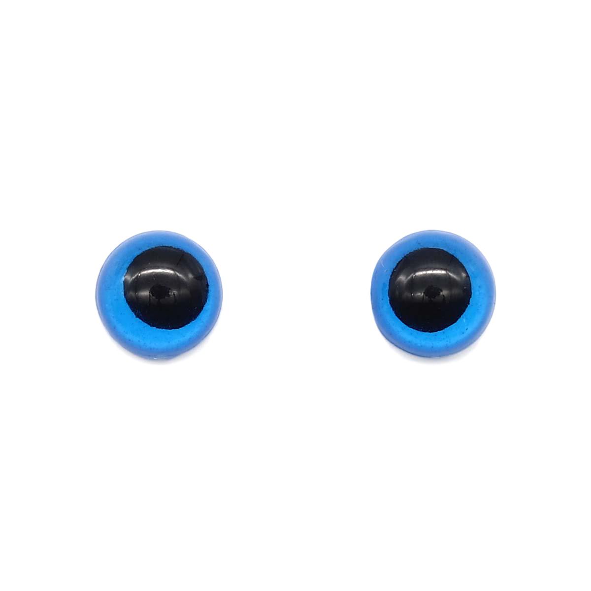 28542 Глазки 12мм (фикс. при помощи клея), уп/8шт, цв.синий