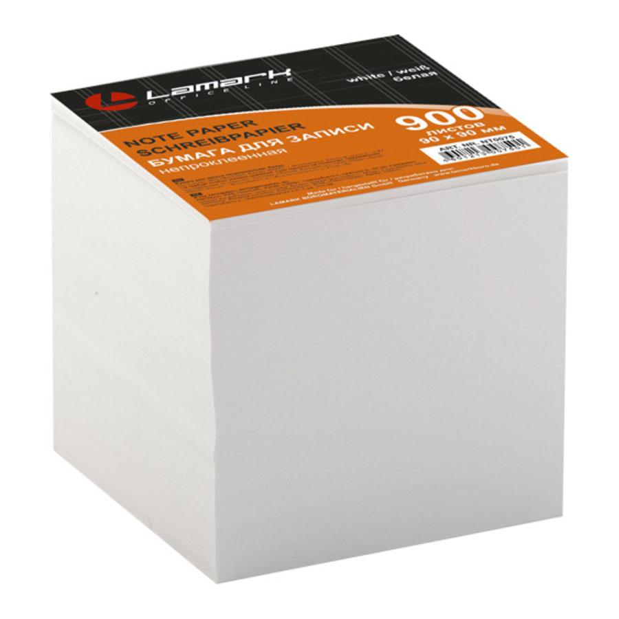LAMARK75 Бумага для записи 90*90мм 900л белая