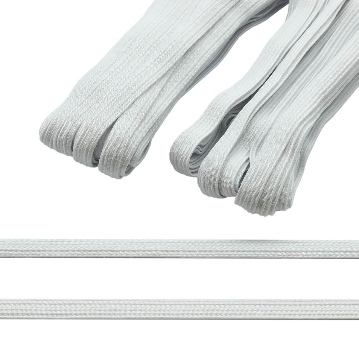 Резинка-продежка (тесьма эластичная) 10 мм (2 мот по 10м), цв. белый, белый