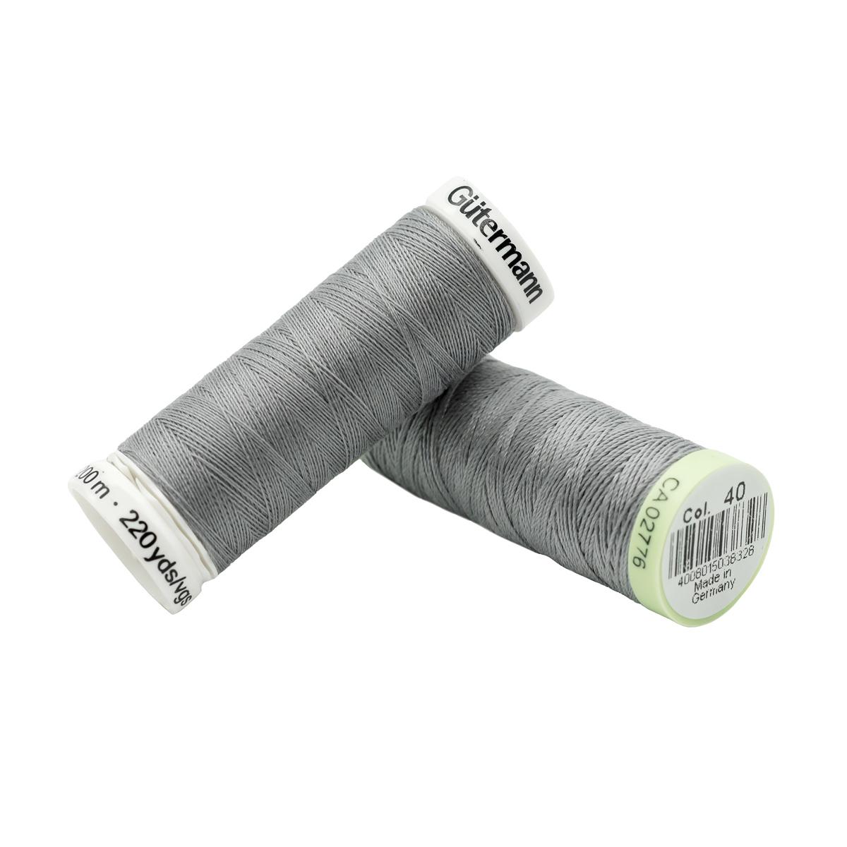 Набор швейных нитей (744506 Нить Top Stitch 30м, 748277 Нить Sew-All 200м) 2шт/упак Гутерманн, 040 пепельно-сиреневый