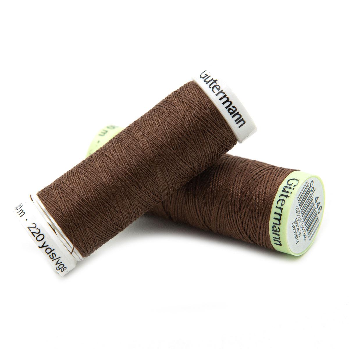 Набор швейных нитей (744506 Нить Top Stitch 30м, 748277 Нить Sew-All 200м) 2шт/упак Гутерманн, 446 сигнальный коричневый