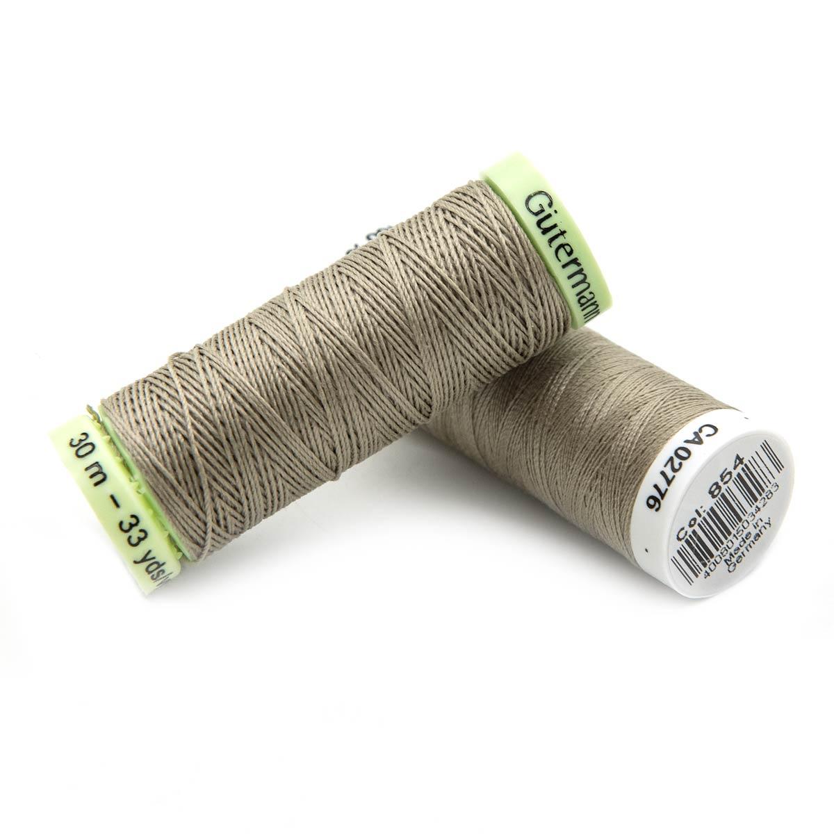 Набор швейных нитей (744506 Нить Top Stitch 30м, 748277 Нить Sew-All 200м) 2шт/упак Гутерманн, 854 пастельно-болотный