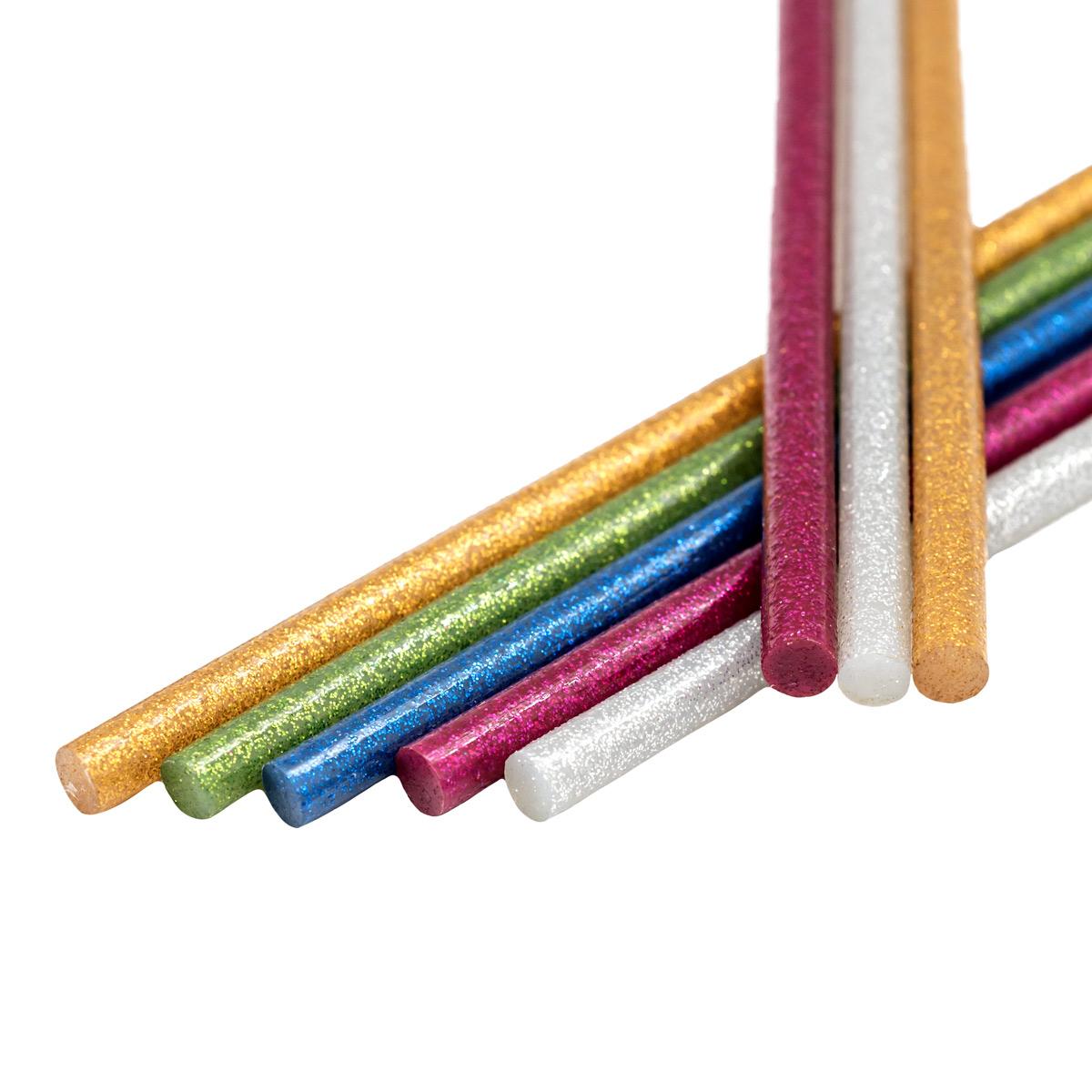 Клей цветной 7,2мм*30см Hobby&Pro упак(15шт), ассорти