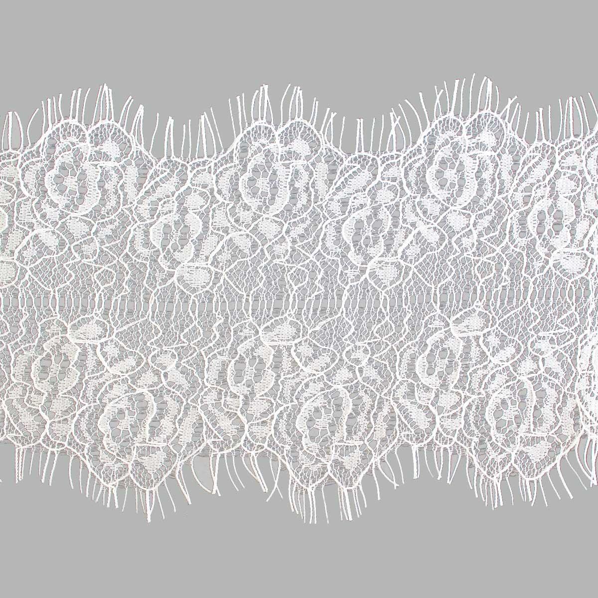 SJ036 Кружево 'Шантильи' на сетке 9,5см*3м, белый