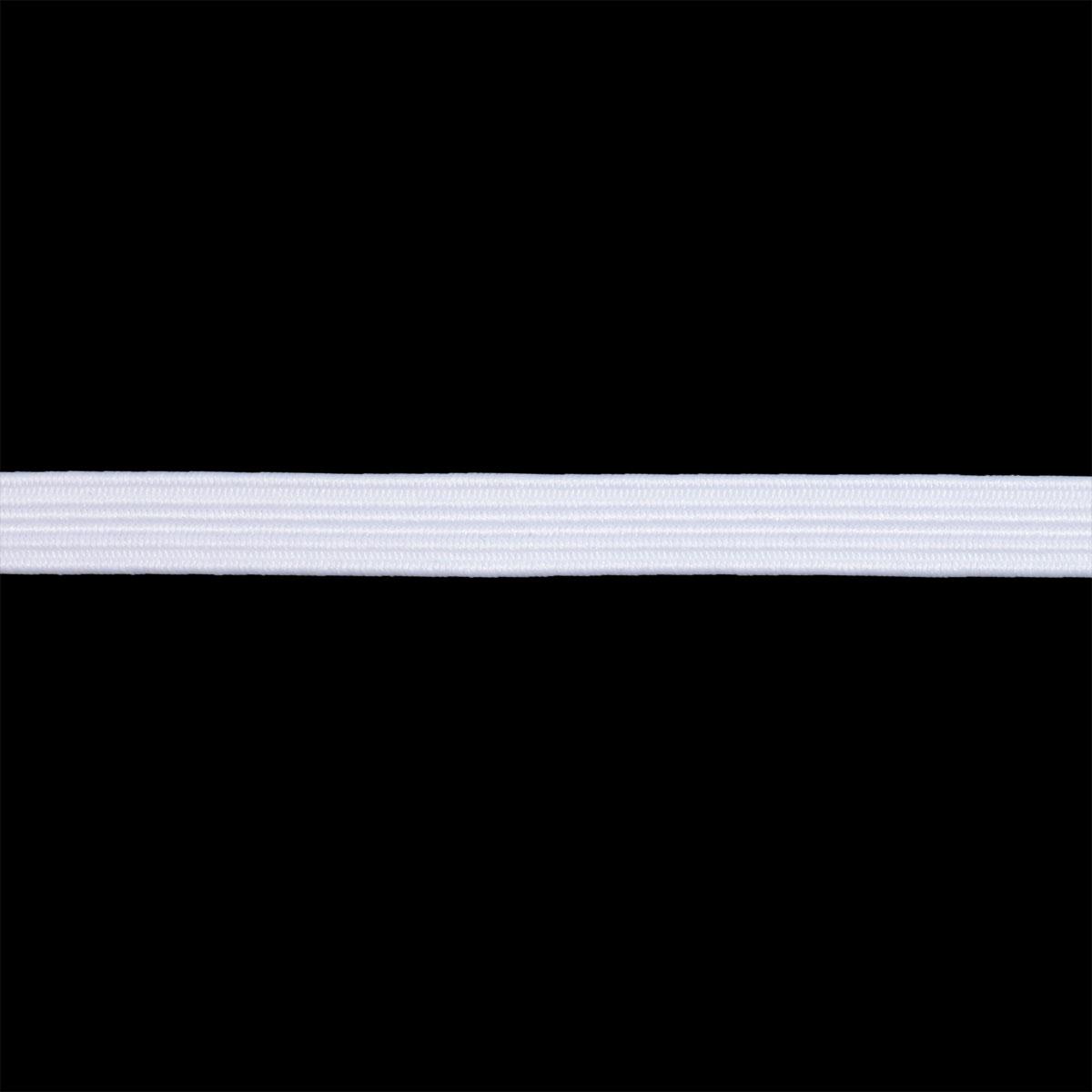 15-1019/01 Резинка вязаная 7мм*50м, белая