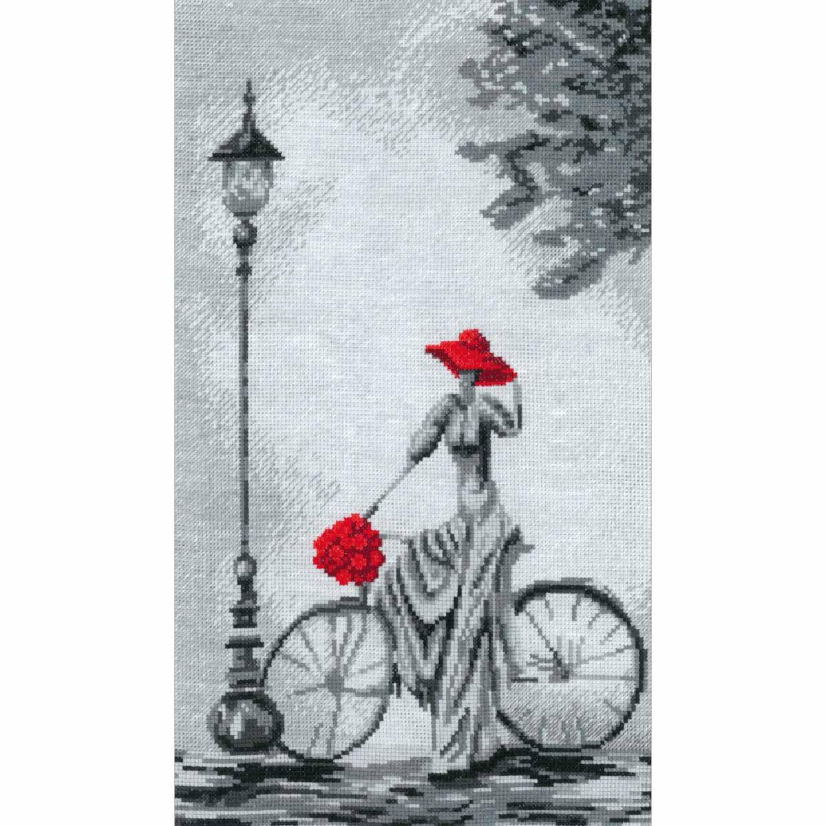 0277 Набор для вышивания 'Прогулка на велосипеде'23х38 см